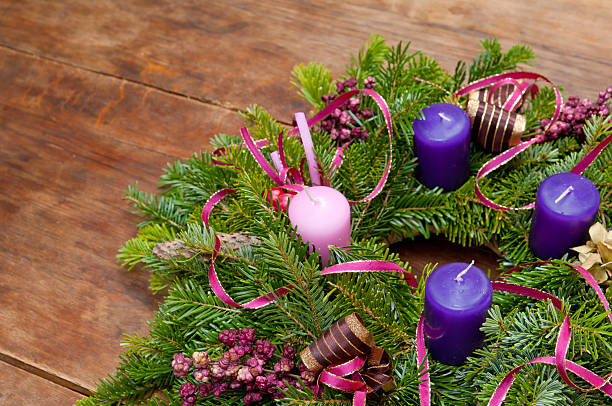 Christmas wreath advent wreath with copy space – Foto