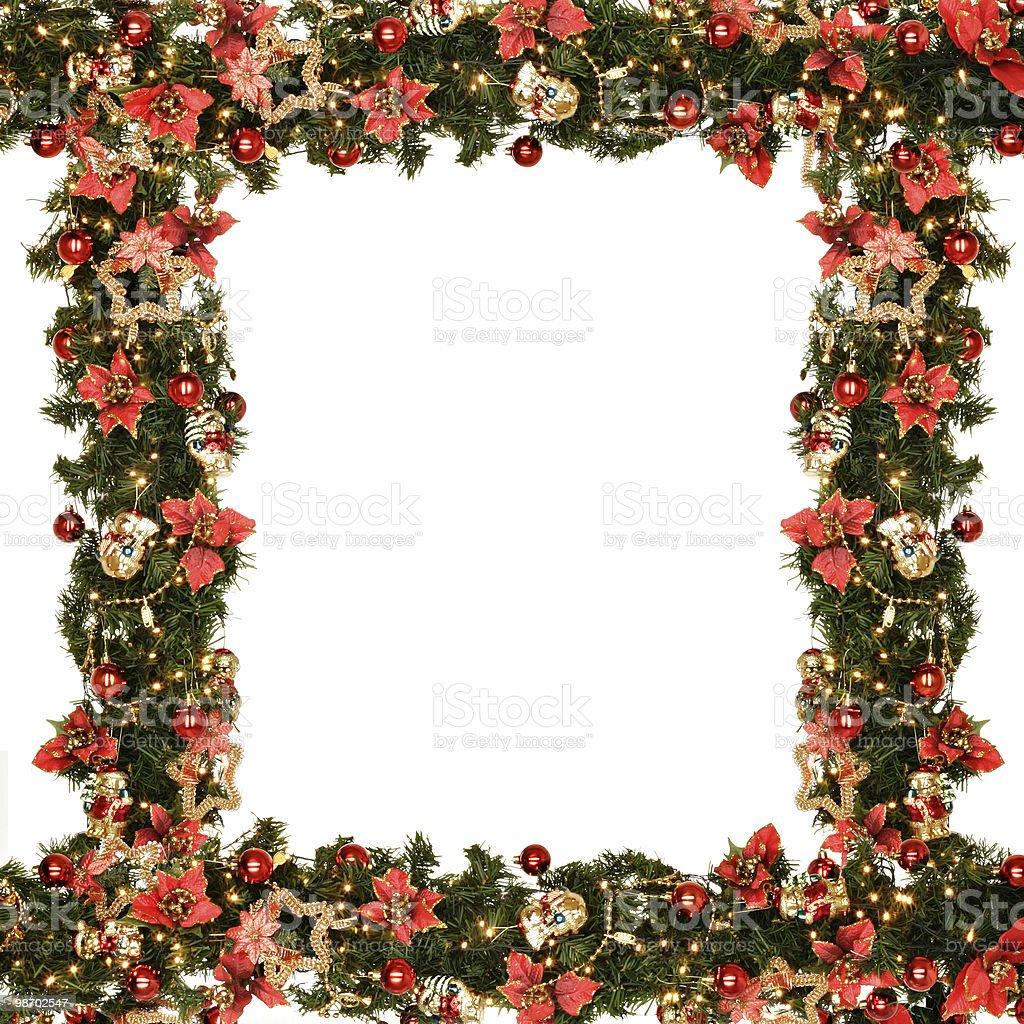 christmas wreath borders royalty-free stock photo