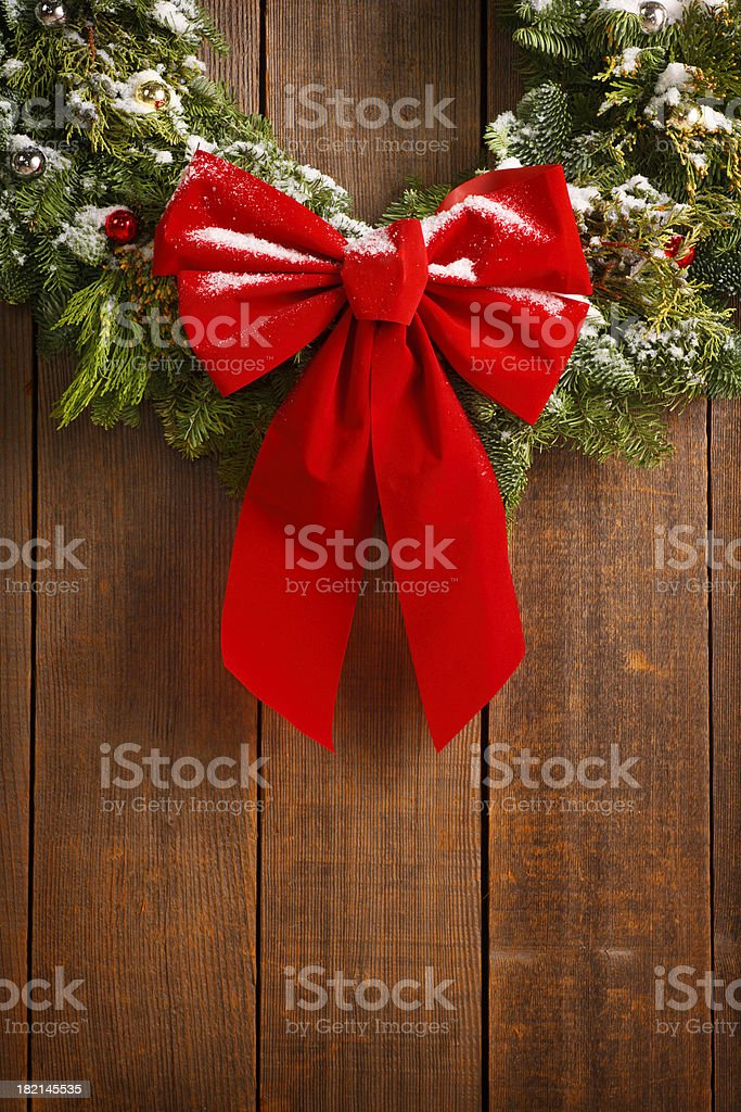 Christmas Wreath Close Up royalty-free stock photo
