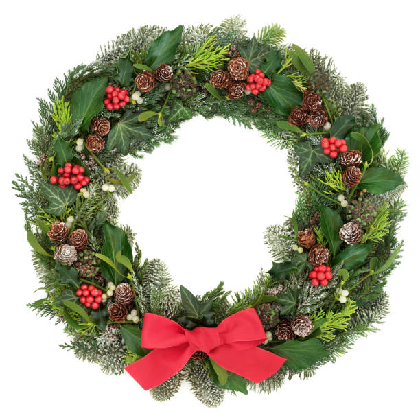 Christmas Wreath Decoration stock photo