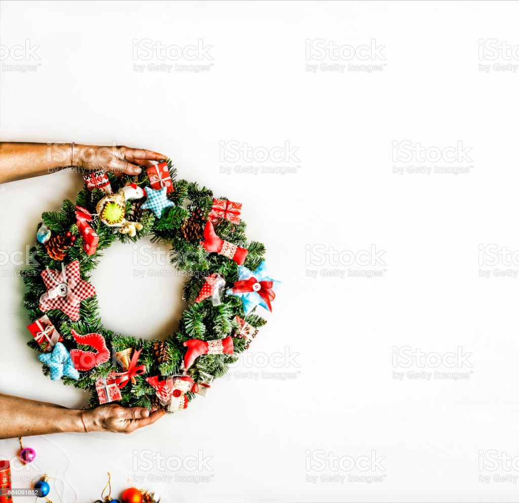 Christmas wreath.  New Year. Christmas holiday. royalty-free stock photo