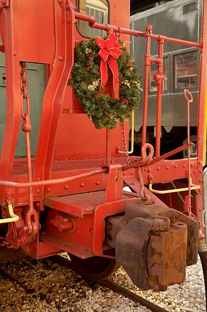 Christmas wreath on caboose
