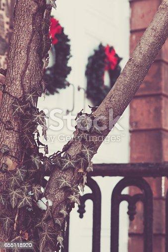 Istock Christmas Wreath On Church Doors 655118898 Istock