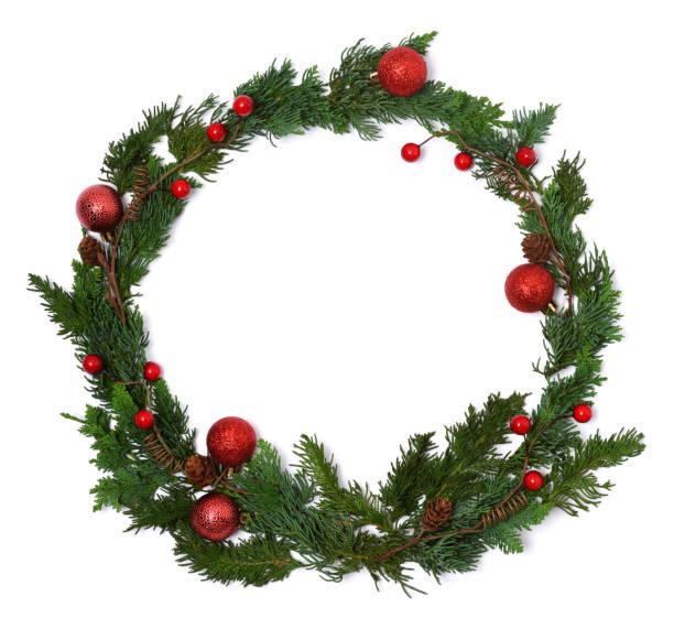 christmas wreath - wieniec zdjęcia i obrazy z banku zdjęć