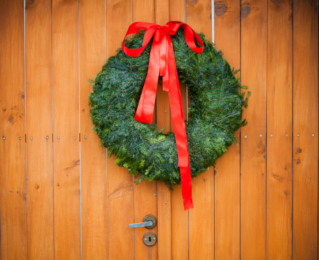 Christmas Wreath Stock Photo - Download Image Now