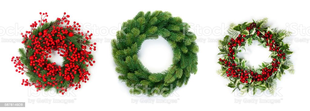 Christmas wreath bildbanksfoto