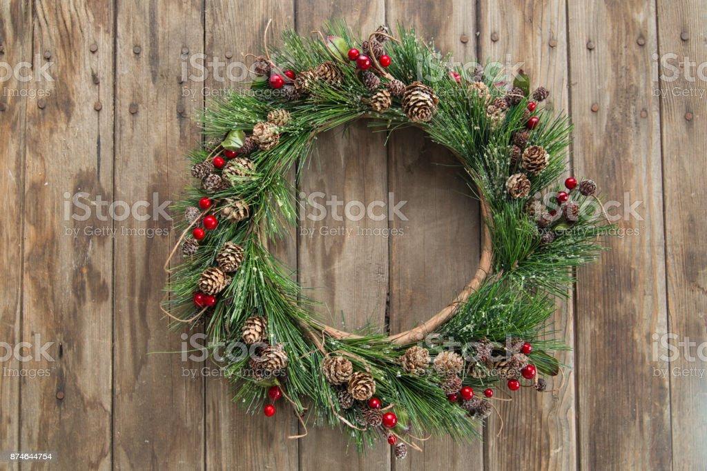 Christmas Krans bildbanksfoto