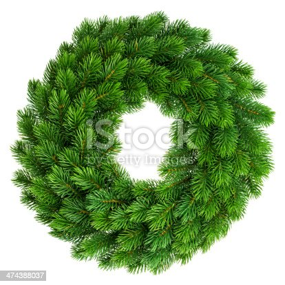 istock christmas wreath undecorated isolated on white 474388037