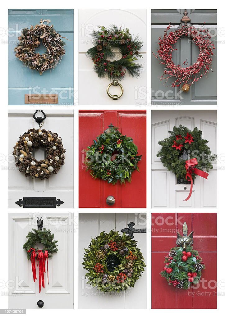 Christmas Wreaths royalty-free stock photo