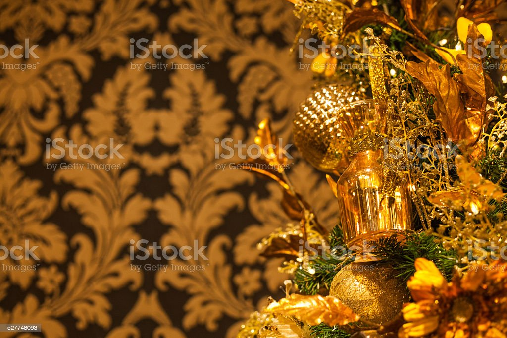 christmas yellow (kerstmis geel) stock photo