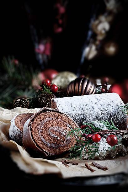 weihnachten weihnachtskuchen - weihnachten de stock-fotos und bilder