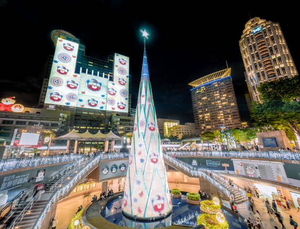 Christmasland in New Taipei City. stock photo