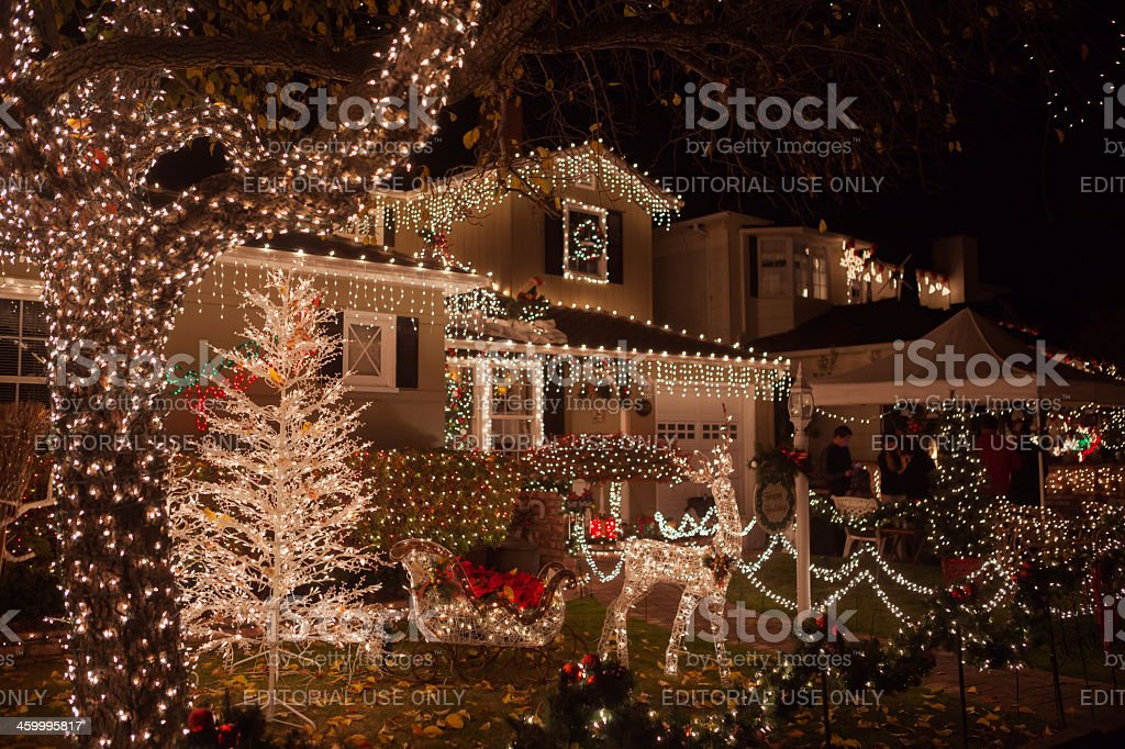 Christmass.  Decorate case. - foto stock