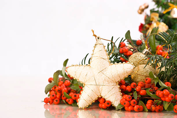 Christmass Decoration with a Star in Front stock photo