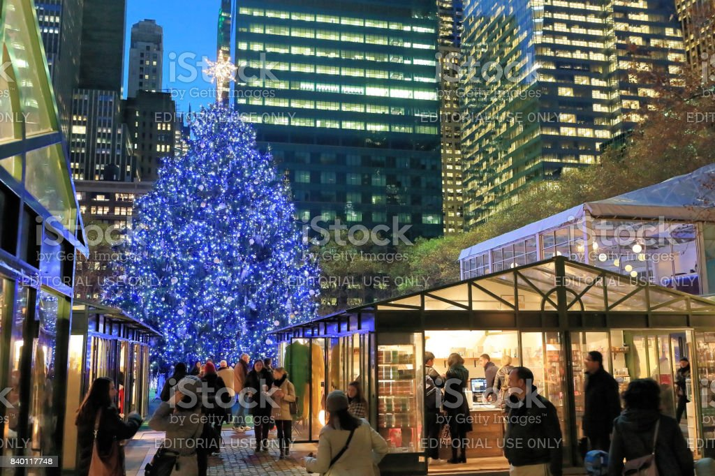 Christmas's Market at Bryant park stock photo