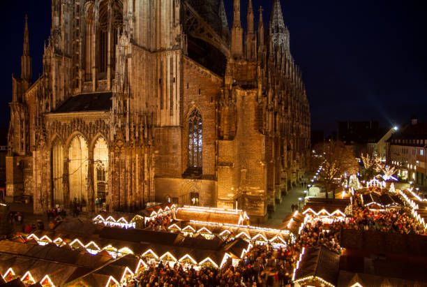 Christmass Market Christmass Market, Ulm Danube ulm stock pictures, royalty-free photos & images