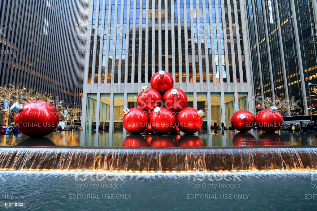 Christmas's ornament at 6th Avenue stock photo