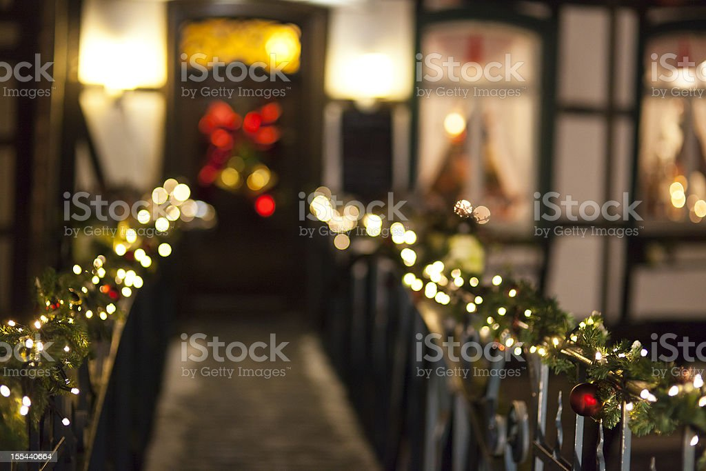 Christmassy Lights At Night royalty-free stock photo