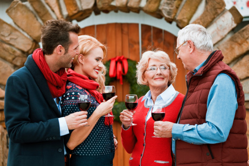 Christmast Toast Stock Photo - Download Image Now