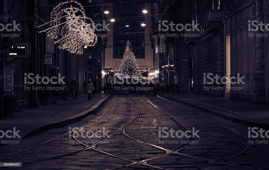 Christmastime in Milan stock photo