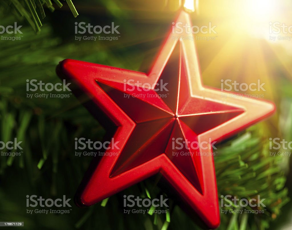 Christmas-tree decoration royalty-free stock photo