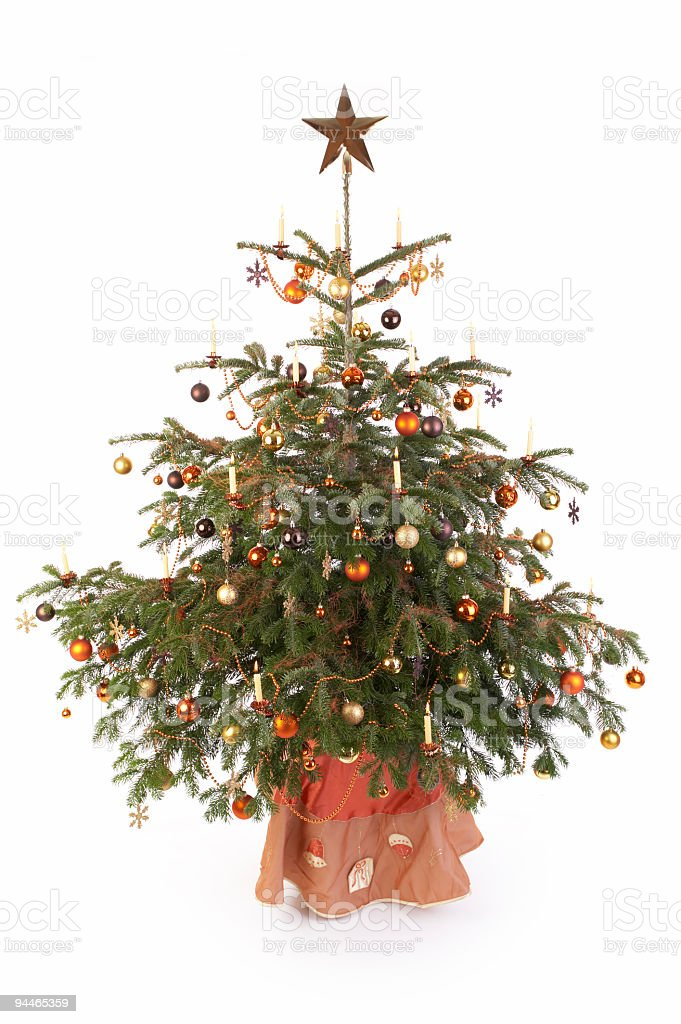 christmastree on white royalty-free stock photo