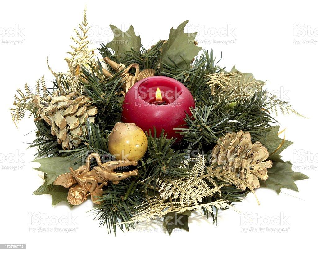 Christmas-tree wreath royalty-free stock photo