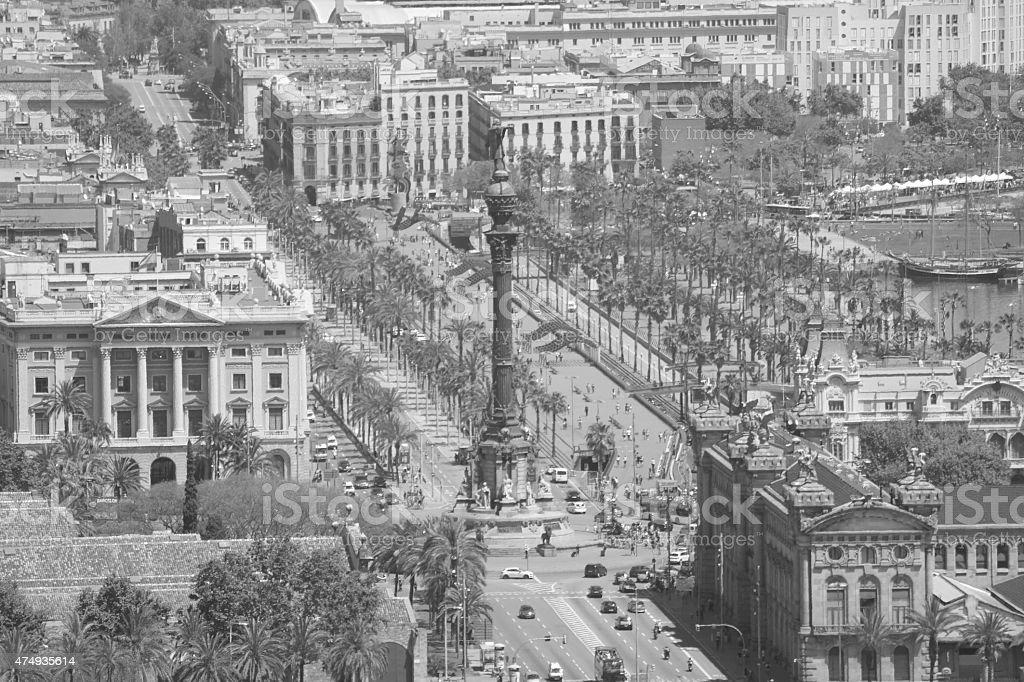Christopher Columbus Monument - Barcelona stock photo
