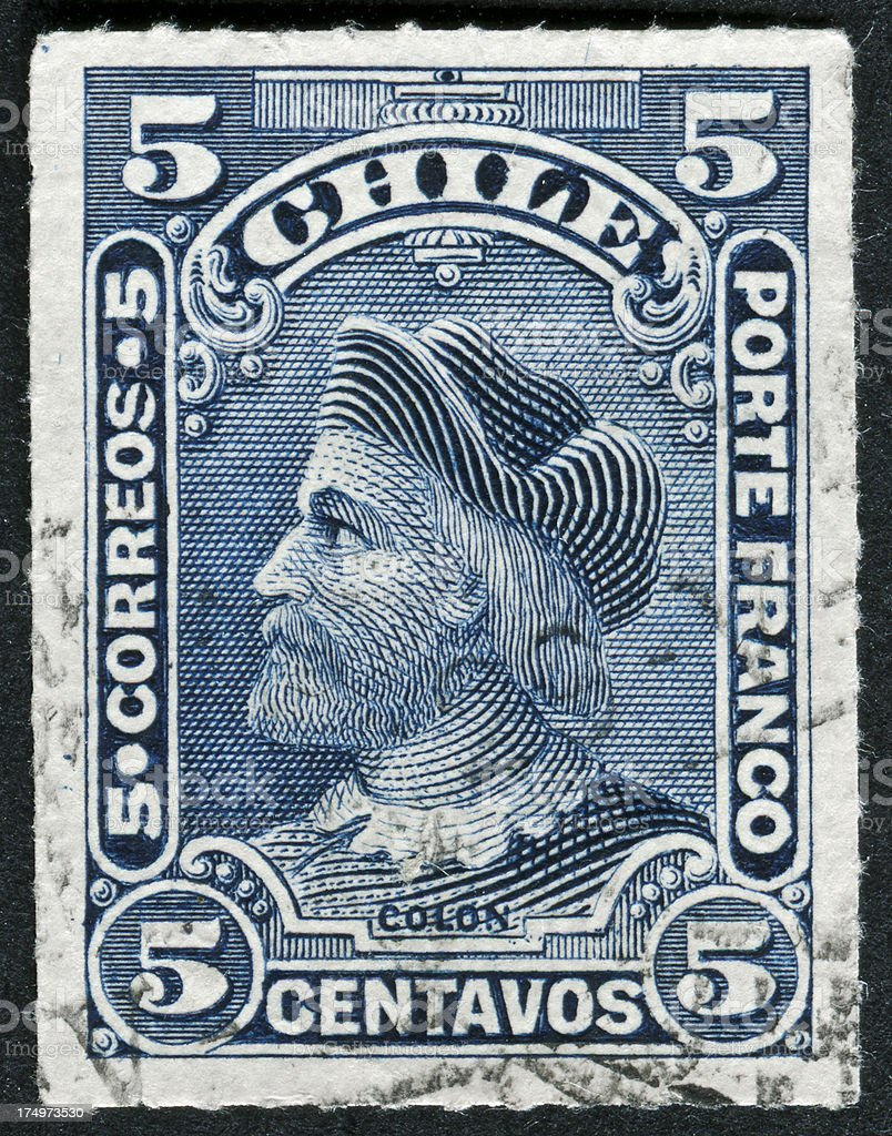 Christopher Columbus Stamp royalty-free stock photo