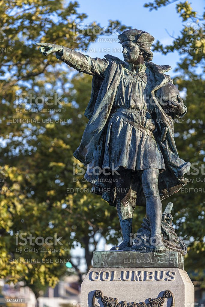 Christopher Columbus Statue royalty-free stock photo