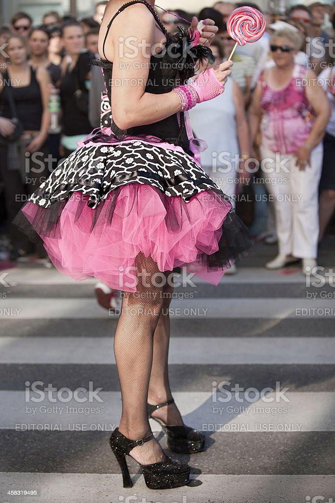 Christopher Street day parade in Stuttgart, Germany royalty-free stock photo