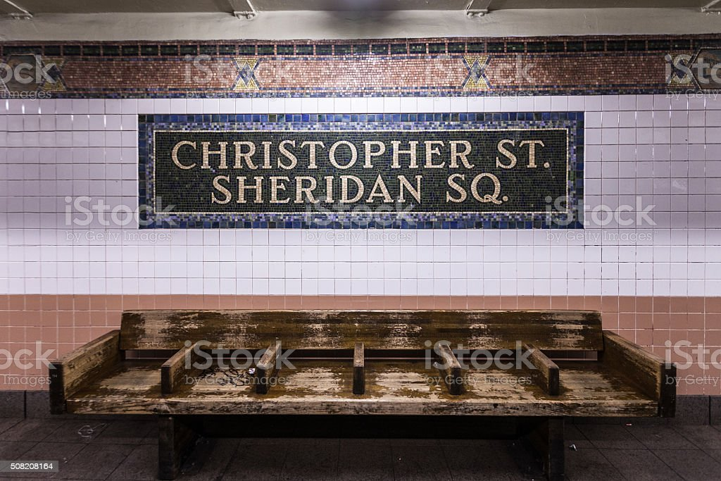 Christopher St./Sheridan Sq. stock photo