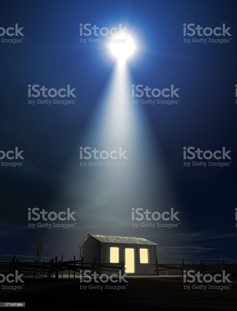 Christ's Birth In A Stable stock photo