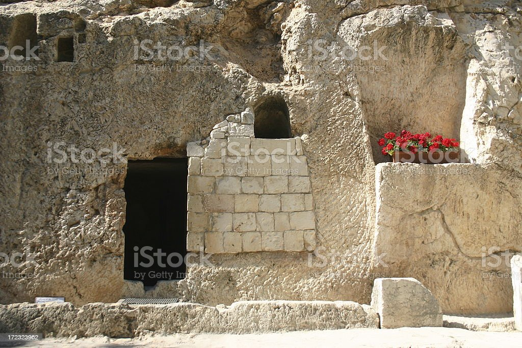 Christ's Empty Tomb stock photo