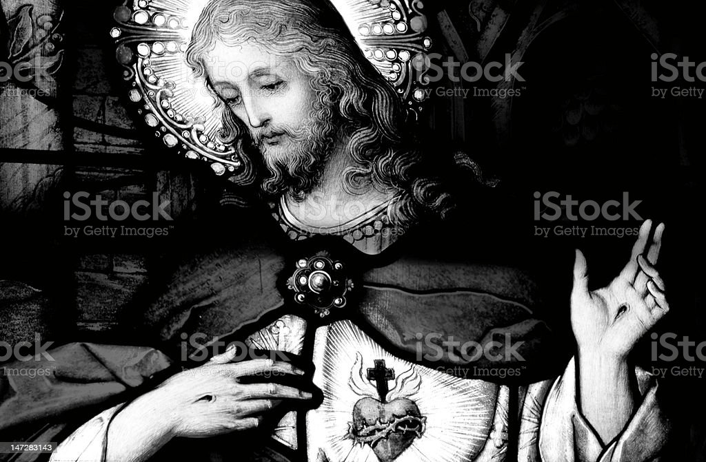 Christ's Sacred Heart stock photo