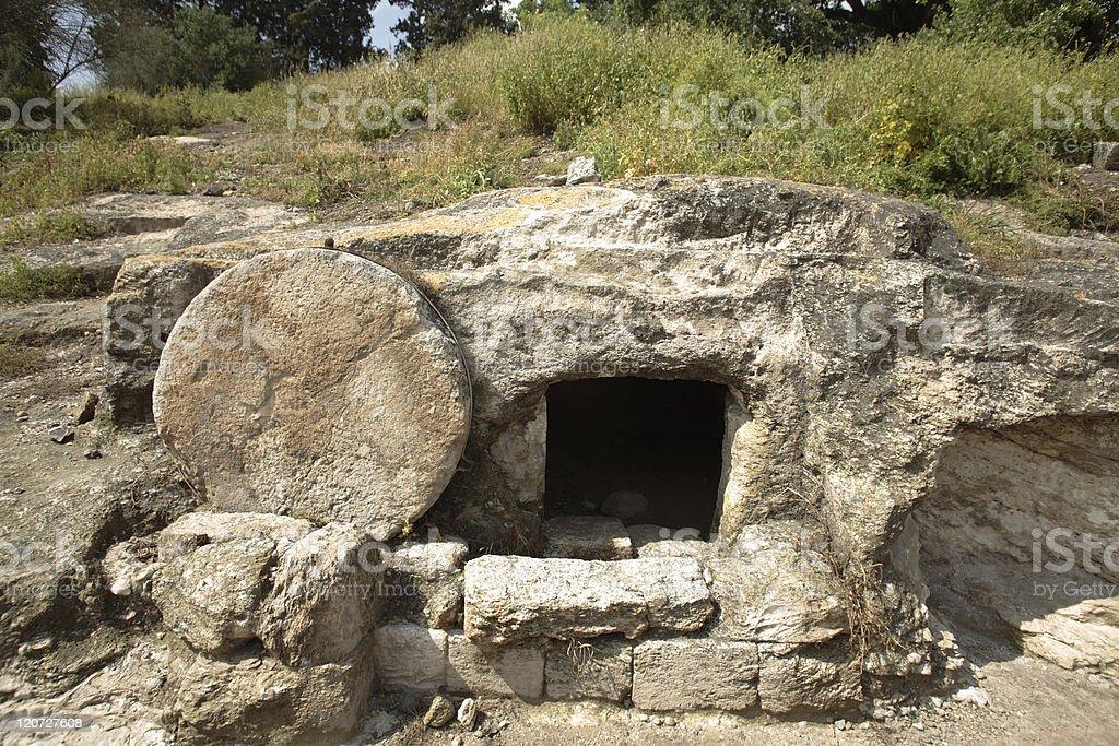 Christ's tomb stock photo