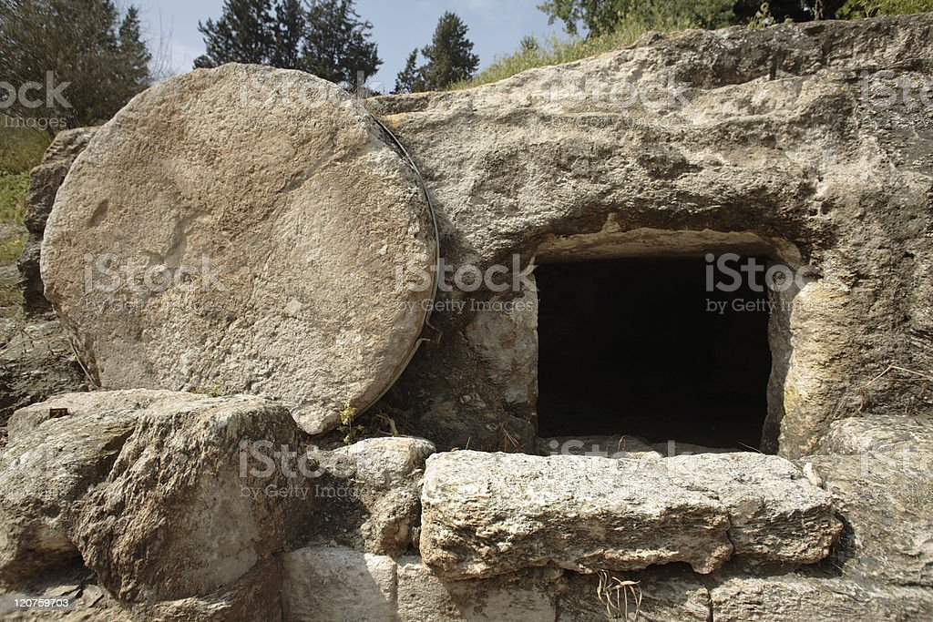 Christ's tomb stock photo
