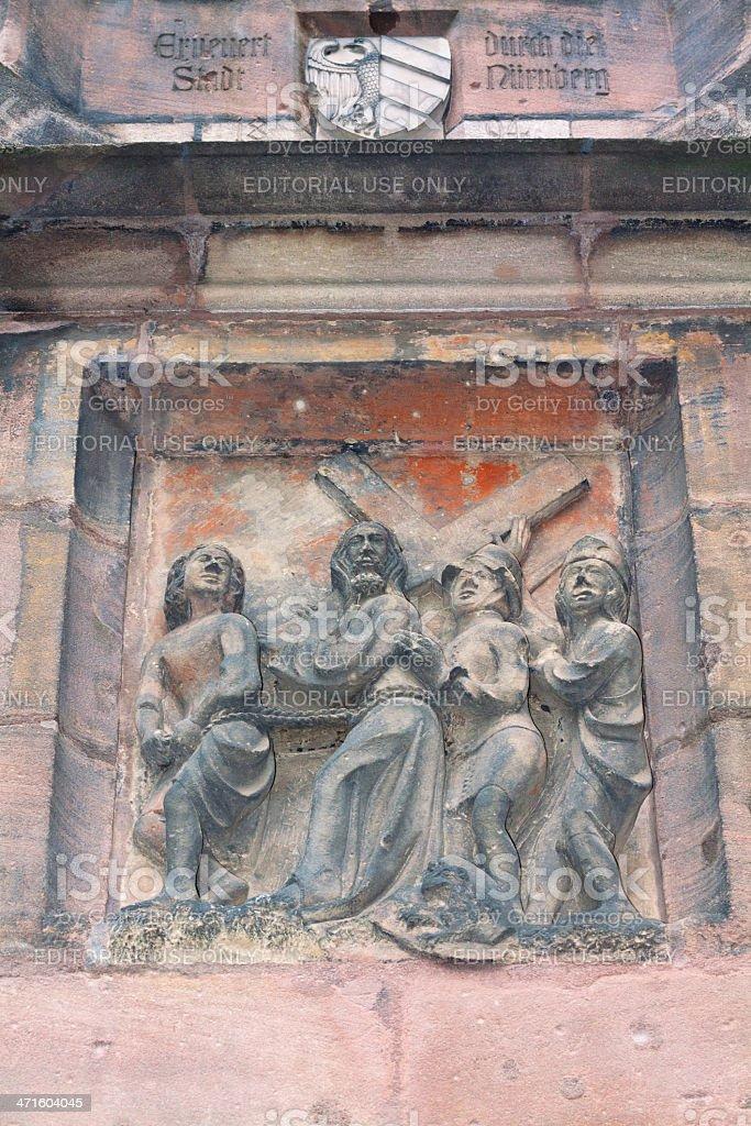Christ's walk to Golgotha royalty-free stock photo