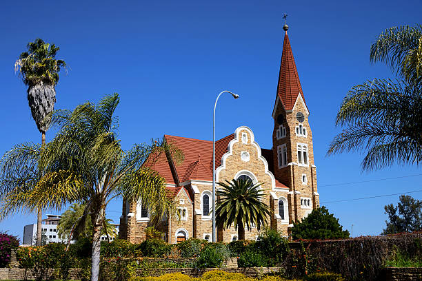 Christuskirche, Windhoek, Namibia stock photo