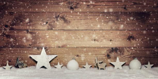 chritmas background with snowfall stock photo