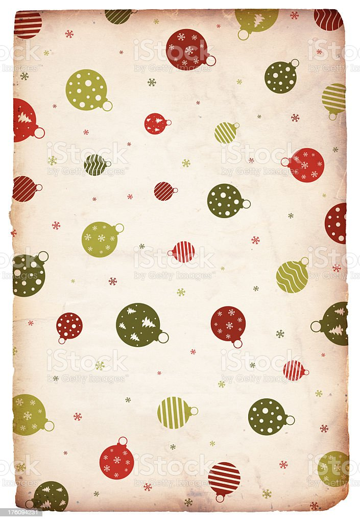 Chritmas Ornament Paper Background royalty-free stock photo