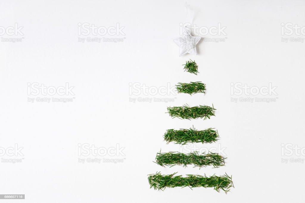 耶誕節樹設計頂部視圖 免版稅 stock photo