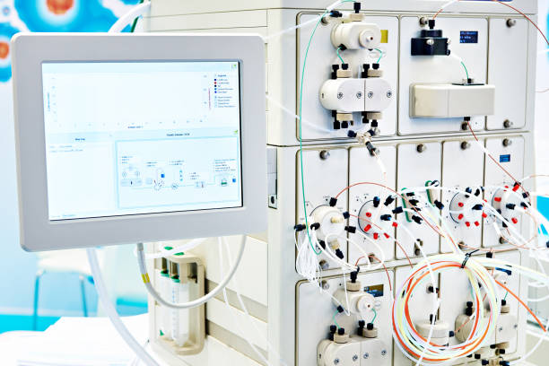 Chromatography system in chemical lab stock photo