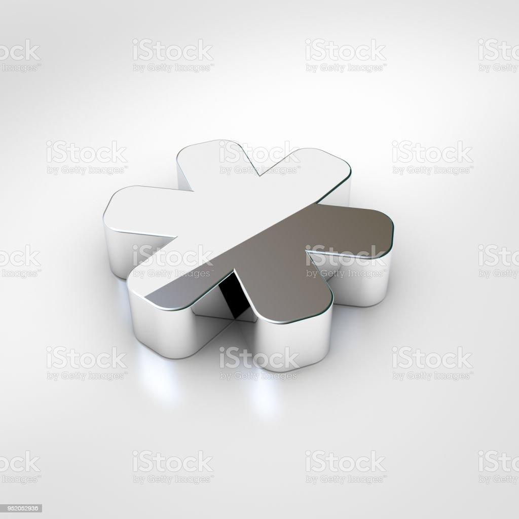 Chrome asterisk icon isolated on white background. - foto stock