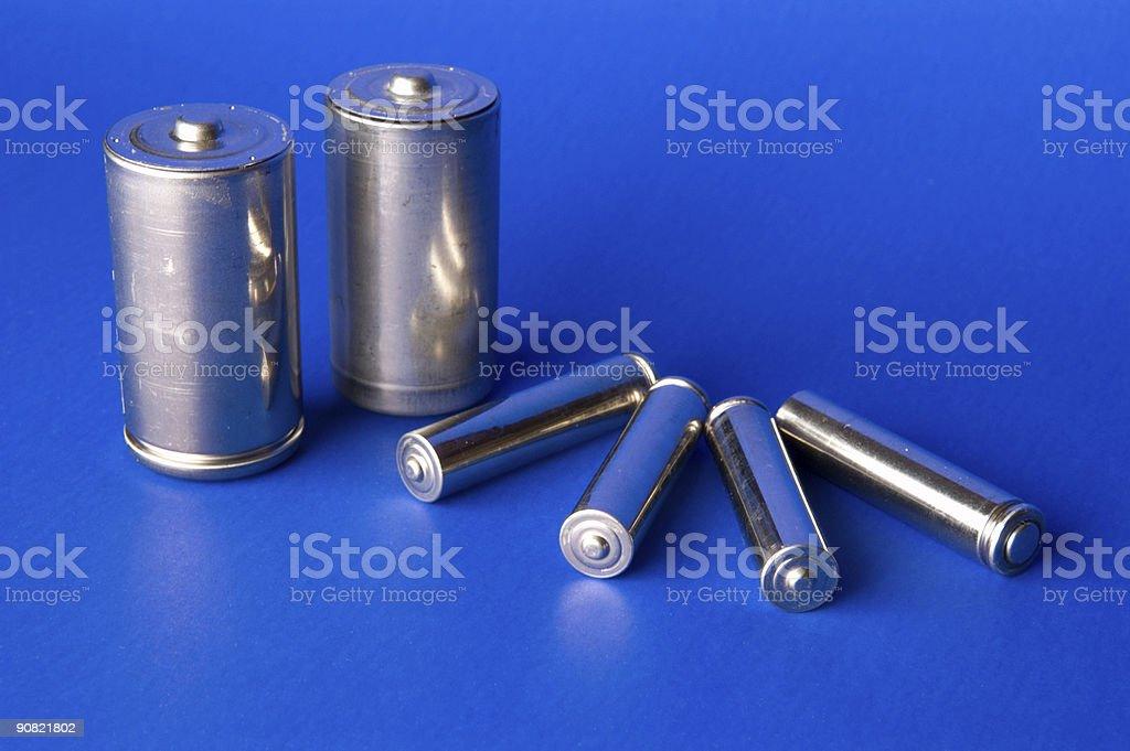 Chrome Batteries stock photo
