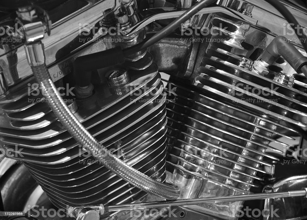 Chrome Camshafts stock photo