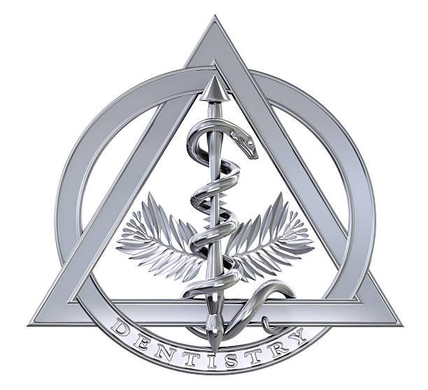 símbolo de cromo dentistry - insignia símbolo fotografías e imágenes de stock