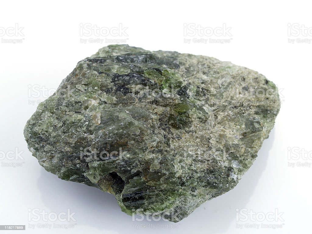 Chrome diopside stock photo
