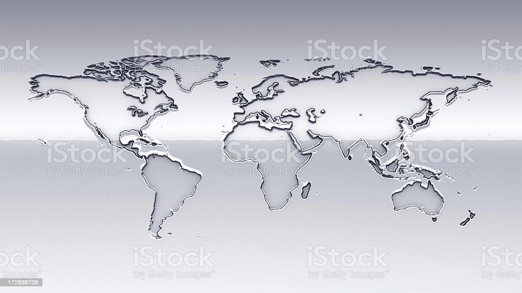 Chrome Earth royalty-free stock photo