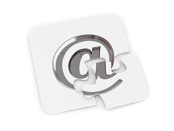 Chrome email alias puzzle Jigsaw puzzle with chrome email alias symbol alias stock pictures, royalty-free photos & images
